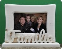 Fotorahmen-Familie-liegend